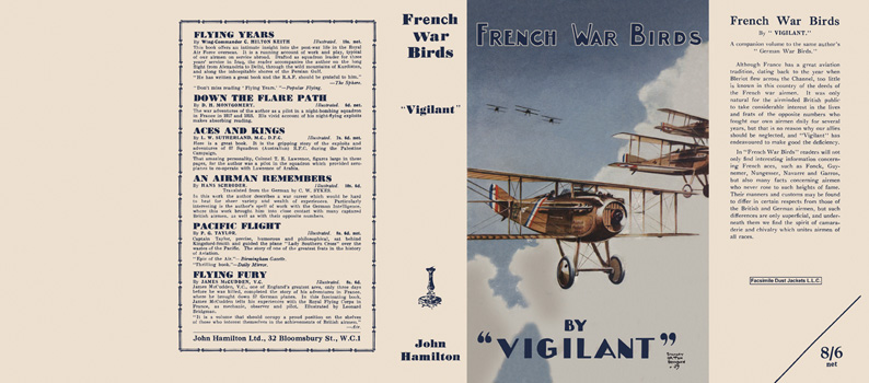 French War Birds. Claude W. Sykes, Vigilant