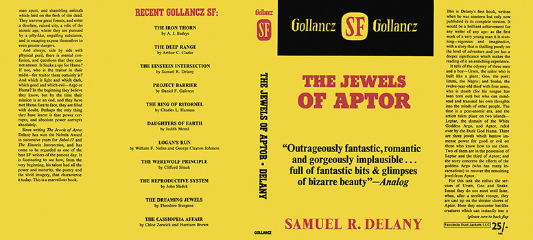 Jewels of Aptor, The. Samuel R. Delany.