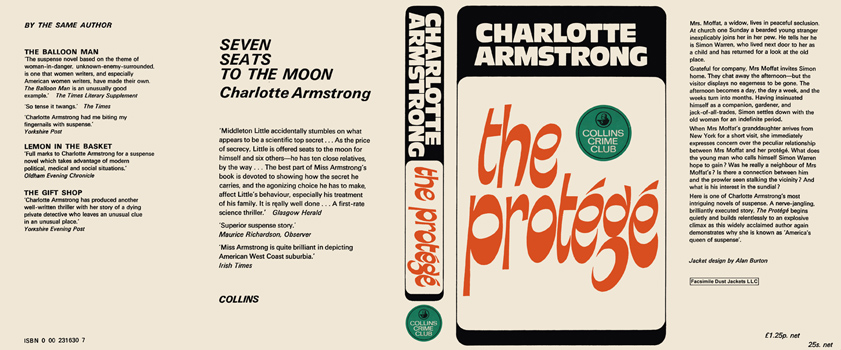 Protege, The. Charlotte Armstrong.
