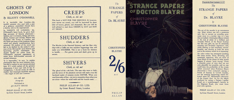 Strange Papers of Doctor Blayre, The. Christopher Blayre.