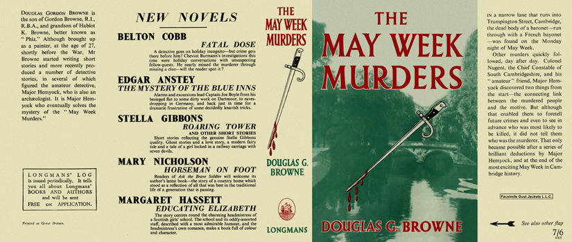 May Week Murders, The. Douglas G. Browne.