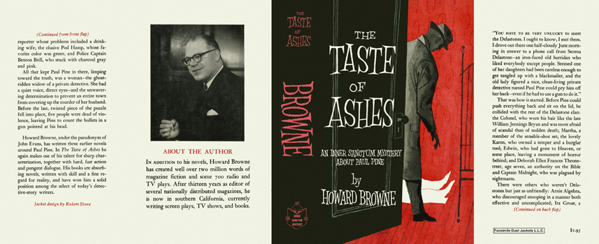 Taste of Ashes, The. Howard Browne.