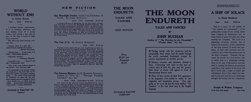 Moon Endureth, Tales and Fancies, The. John Buchan.