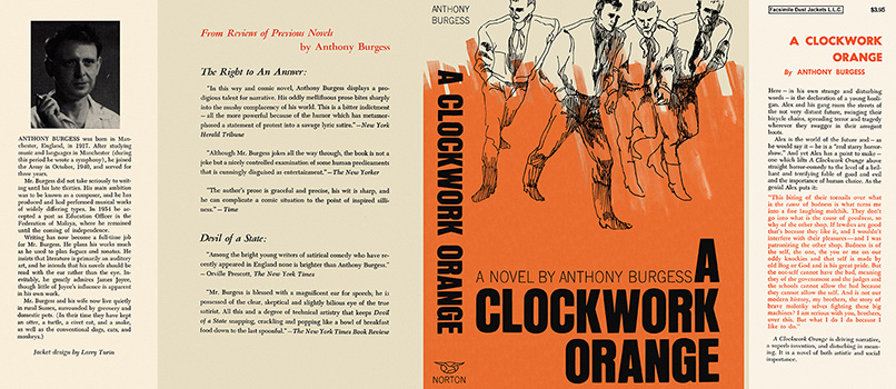 Clockwork Orange, A. Anthony Burgess.