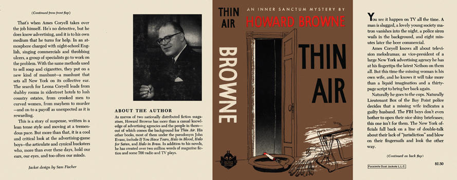 Thin Air. Howard Browne.
