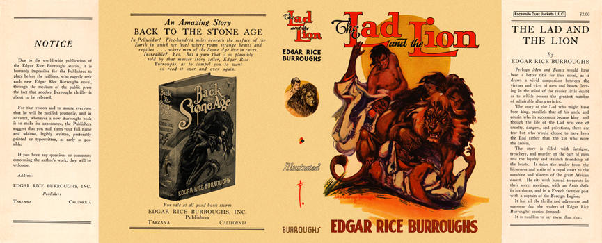 Lad and the Lion, The. Edgar Rice Burroughs.