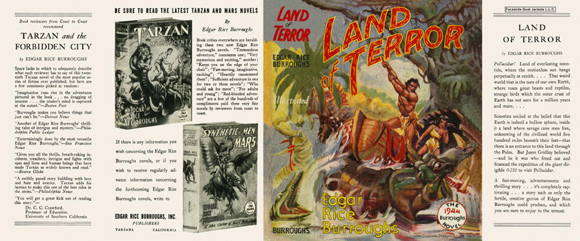 Land of Terror, The. Edgar Rice Burroughs.