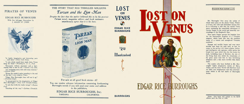 Lost on Venus. Edgar Rice Burroughs.