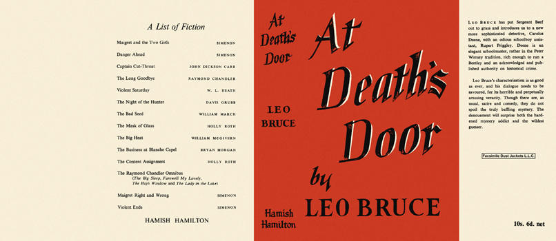 At Death's Door. Leo Bruce.