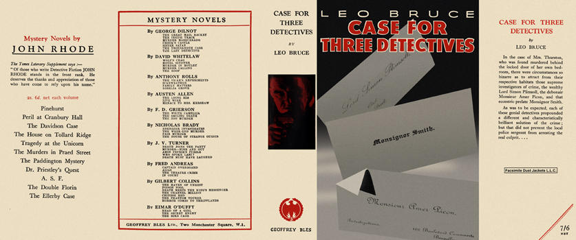 Case for Three Detectives. Leo Bruce.