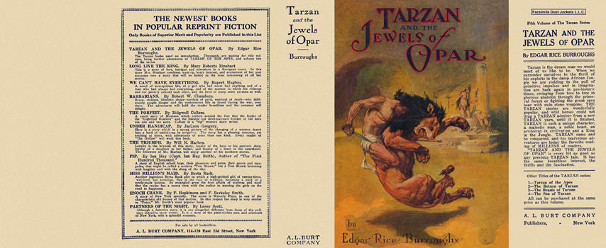 Tarzan and the Jewels of Opar. Edgar Rice Burroughs.