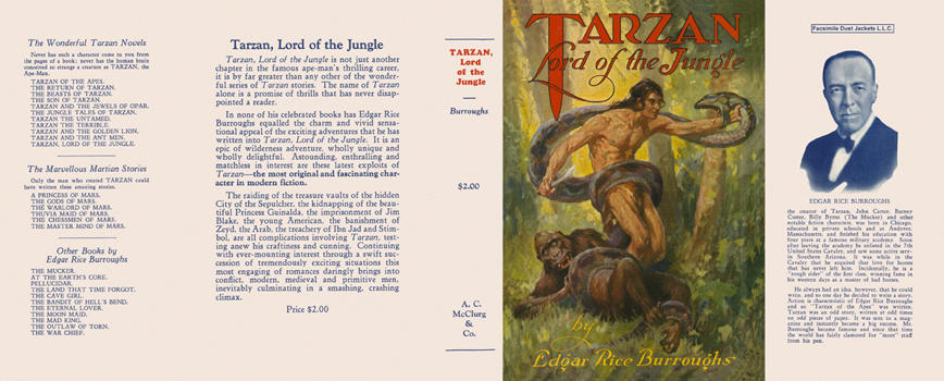 Tarzan, Lord of the Jungle. Edgar Rice Burroughs