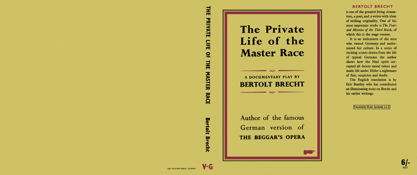 Private Life of the Master Race, The. Bertolt Brecht