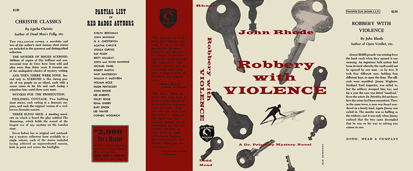 Robbery with Violence. John Rhode.