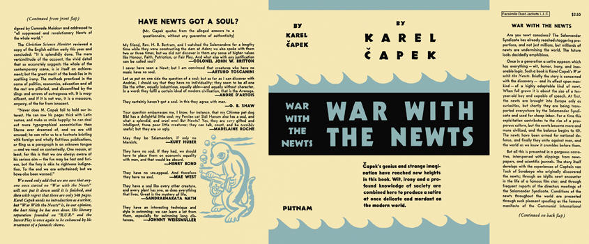 War with the Newts. Karel Capek
