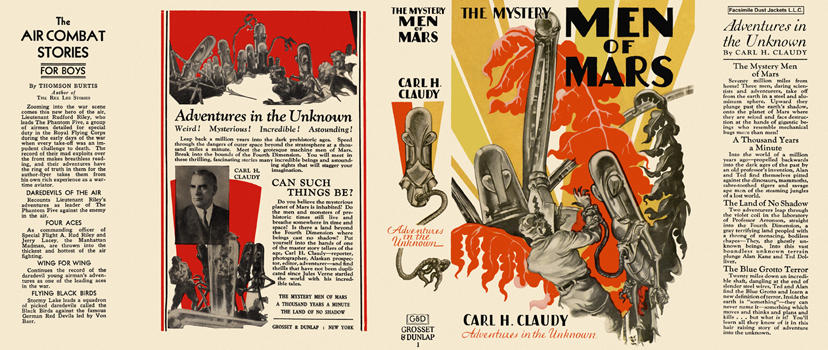 Mystery Men of Mars, The. Carl H. Claudy
