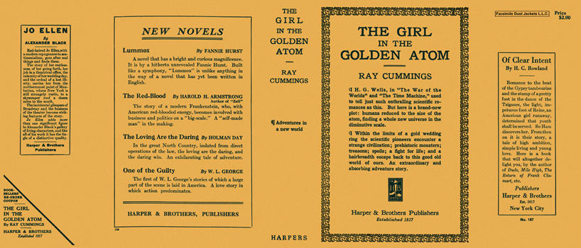 Girl in the Golden Atom, The. Ray Cummings.