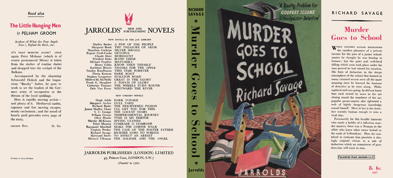 Murder Goes to School. Richard Savage