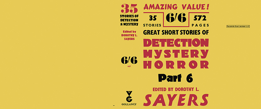 35 Great Short Stories of Detection Mystery Horror, Part 6. Dorothy L. Sayers, Anthology.