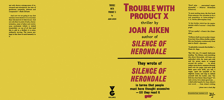 Trouble with Product X. Joan Aiken.