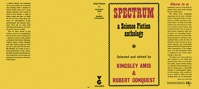 Spectrum, A Science Fiction Anthology. Kingsley Amis, Robert Conquest, Anthology.