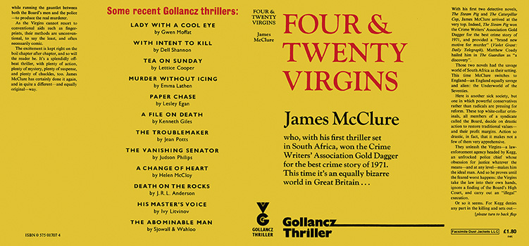 Four and Twenty Virgins. James McClure