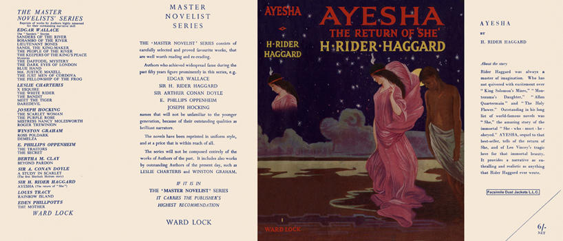 Ayesha, The Return of She. H. Rider Haggard.