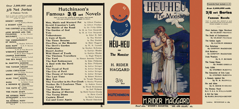 Heu-Heu or the Monster. H. Rider Haggard.