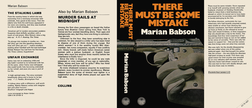 There Must Be Some Mistake. Marian Babson.