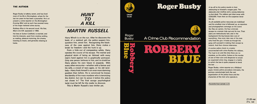 Robbery Blue. Roger Busby.