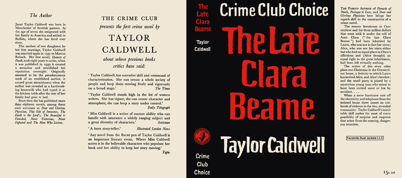 Late Clara Beame, The. Taylor Caldwell
