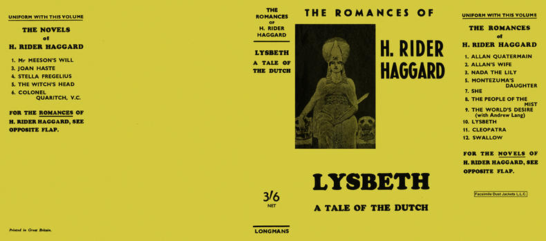 Lysbeth - A Tale of the Dutch. H. Rider Haggard