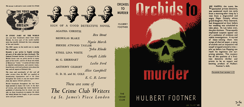 Orchids to Murder. Hulbert Footner.