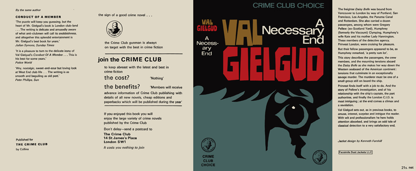 Necessary End, A. Val Gielgud.