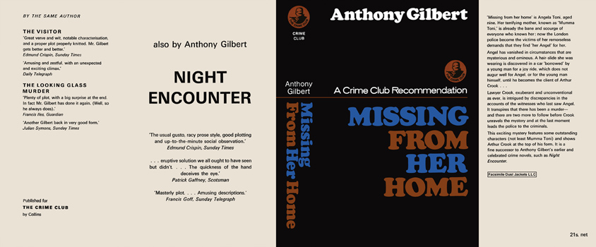 Missing from Her Home. Anthony Gilbert.