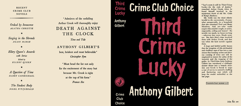 Third Crime Lucky. Anthony Gilbert