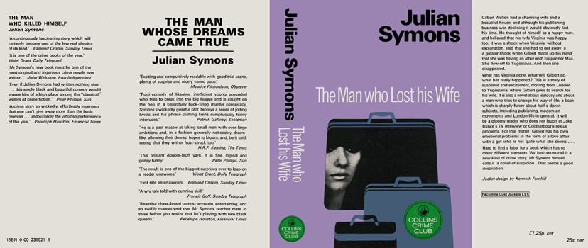 Man Who Lost His Wife, The. Julian Symons.