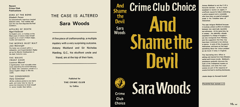 And Shame the Devil. Sara Woods.