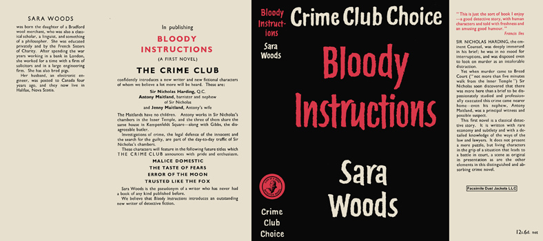 Bloody Instructions. Sara Woods.