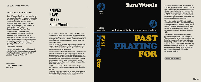 Past Praying For. Sara Woods.