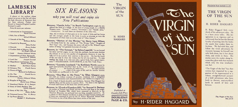 Virgin of the Sun, The. H. Rider Haggard