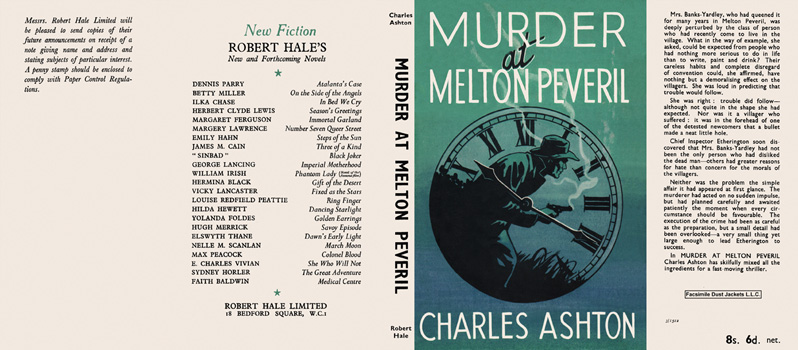 Murder at Melton Peveril. Charles Ashton