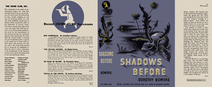 Shadows Before. Dorothy Bowers.