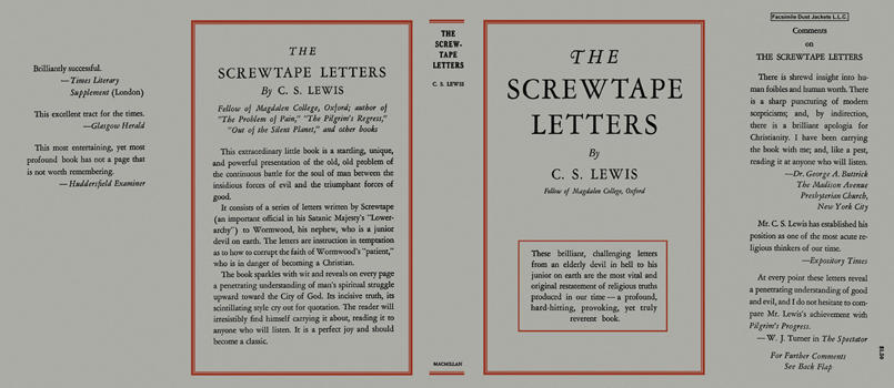 Screwtape Letters, The. C. S. Lewis.
