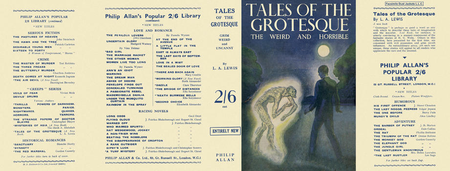 Tales of the Grotesque. L. A. Lewis.