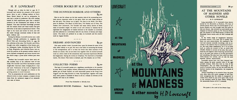 At the Mountains of Madness and Other Novels. H. P. Lovecraft