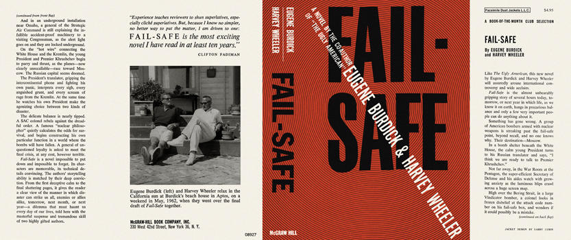 Fail-Safe. Eugene Burdick, Harvey Wheeler.