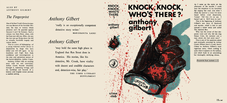 Knock, Knock, Who's There? Anthony Gilbert.