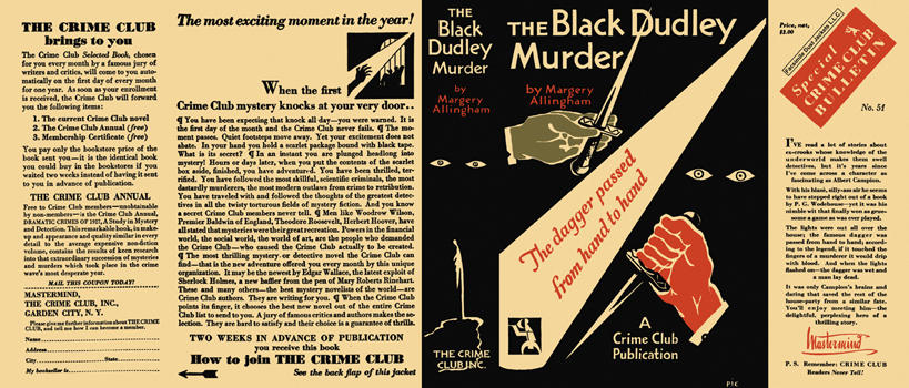 Black Dudley Murder, The. Margery Allingham