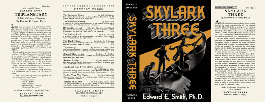 Skylark Three. Edward E. Smith, Ph D.